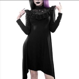 Killstar victorian goth dress lace detailing